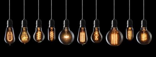bannière ampoules à filaments