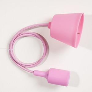 Suspension silicone rose E27