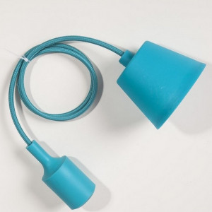 Suspension silicone turquoise E27