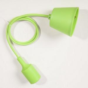 Suspension silicone vert E27
