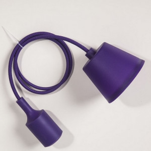 Suspension silicone violet E27