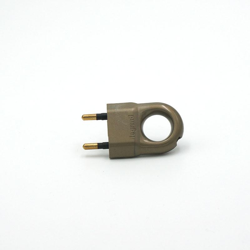 Fiche électrique anneau bronze