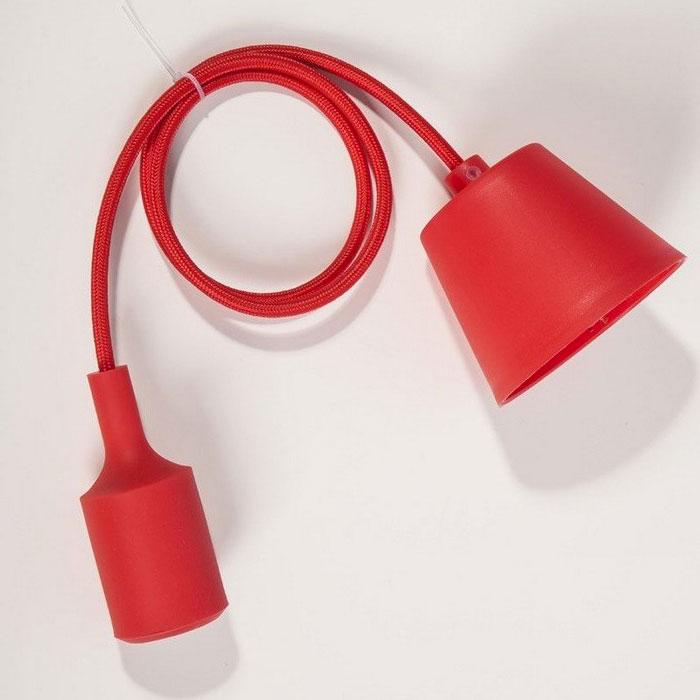 Suspension silicone rouge