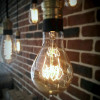 Ampoule déco vintage Miami 75mm, 60W, E27