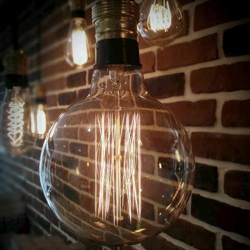 Ampoule déco vintage Portland 125mm, 40W, E27