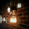 Ampoule déco vintage Dallas 80mm, 60W, E27