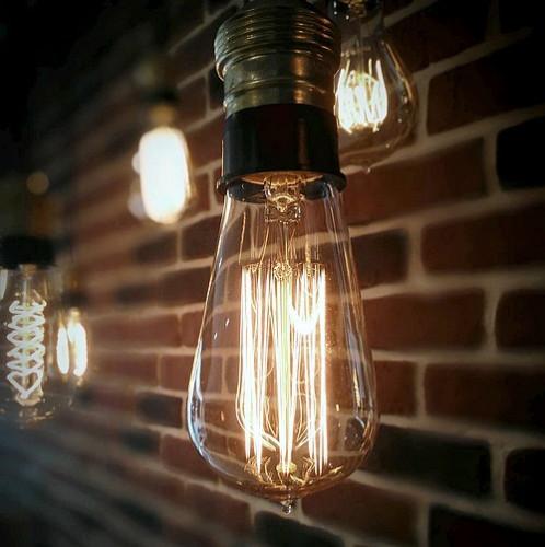 Ampoule déco vintage Springfield 58 mm, 40W, E27