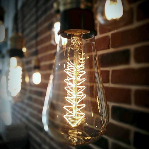 Ampoule déco vintage Lexington 64mm, 60W, E27