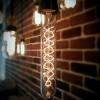 Ampoule déco vintage Nashville blanche, 185mm, 60W, E27