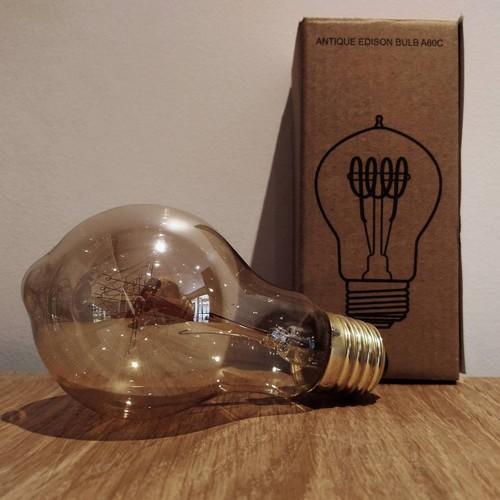Ampoule déco vintage Miami 60mm, 60W, E27