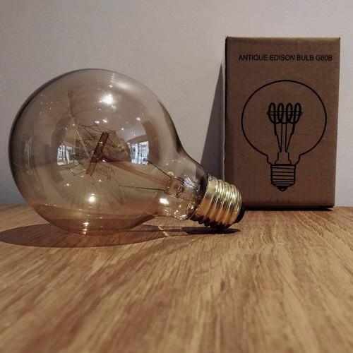 Ampoule déco vintage Memphis 80mm, 60W, E27