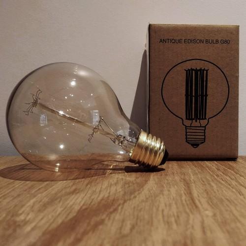 Ampoule déco vintage Portland 80mm, 40W, E27