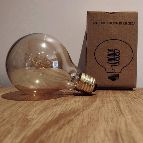 Ampoule déco vintage Atlanta 80mm, 60W, E27