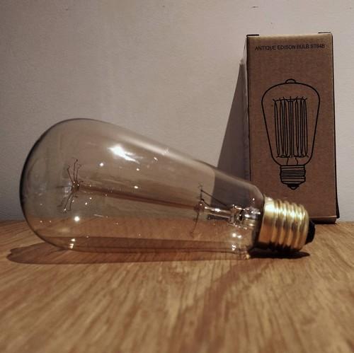 Ampoule déco vintage Springfield 64mm, 60W, E27