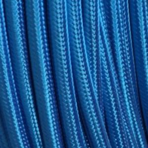 Câble textile bleu