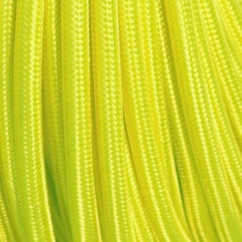 Câble textile jaune