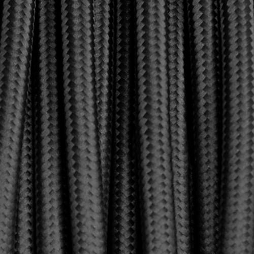 Câble textile noir