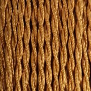 Câble textile or torsadé