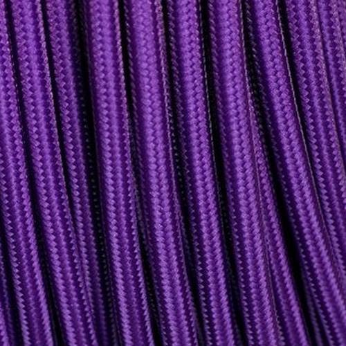 Câble textile violet
