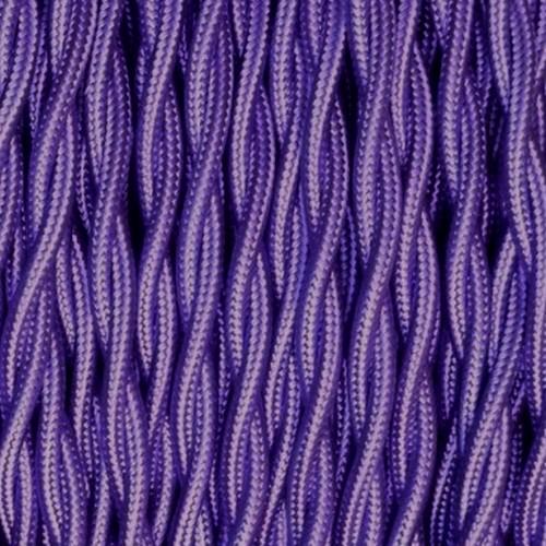 Câble textile violet torsadé