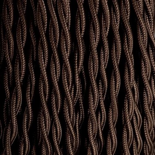 Câble textile marron foncé torsadé