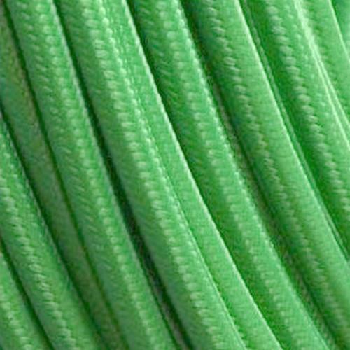 Câble textile vert