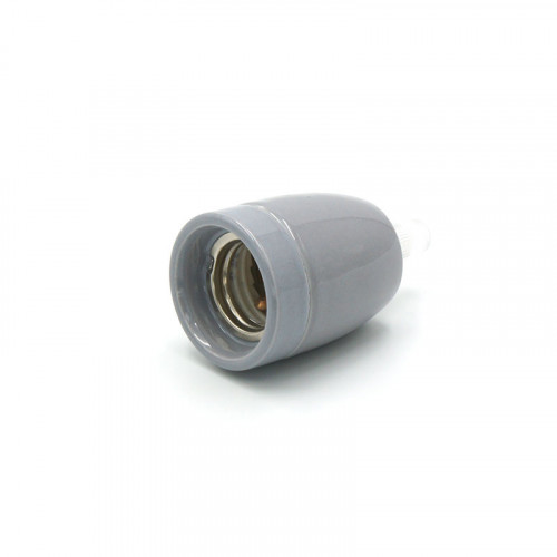 Douille porcelaine grise E27