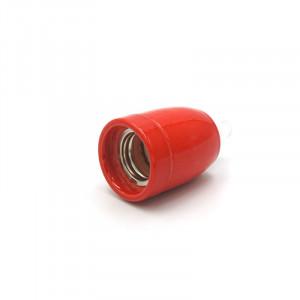 Douille porcelaine rouge E27