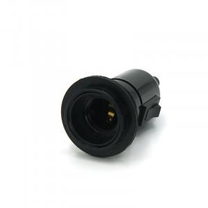 Douille plastique noir avec interrupteur