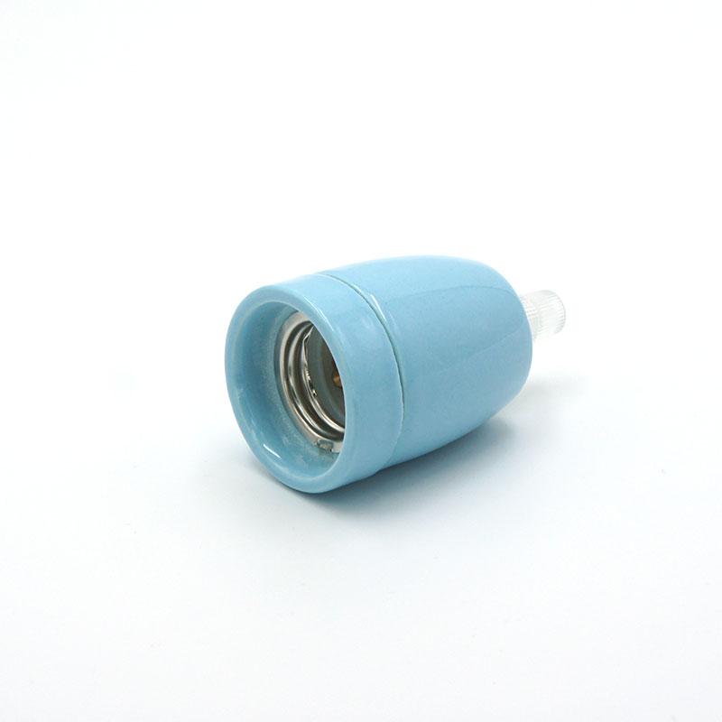 Douille porcelaine bleue E27