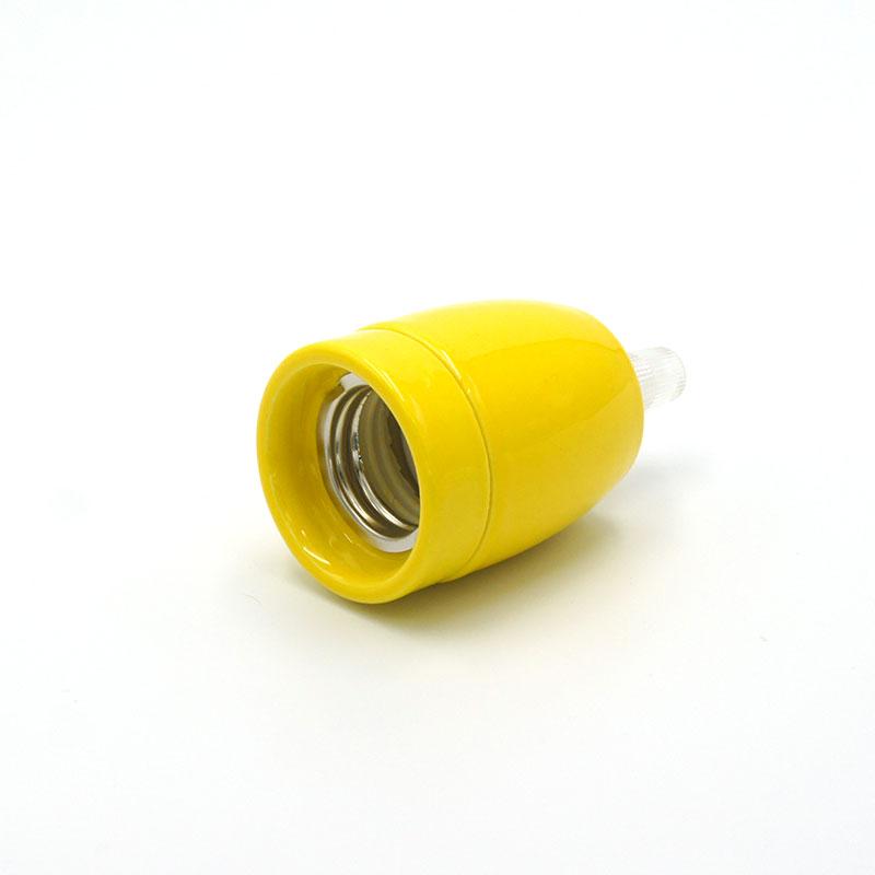 Douille porcelaine jaune E27