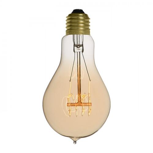Ampoule déco vintage Miami 60mm, 40W, E27