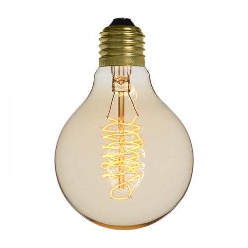 Ampoule déco vintage Atlanta 80mm, 40W, E27
