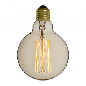 Ampoule déco vintage Portland 95mm, 40W, E27