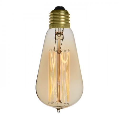 Ampoule déco vintage Cleveland 58mm, 40W, E27