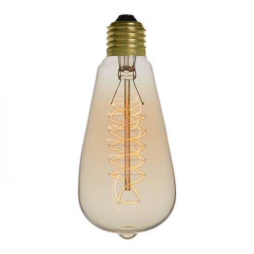 Ampoule déco vintage Jackson 58mm, 40W, E27