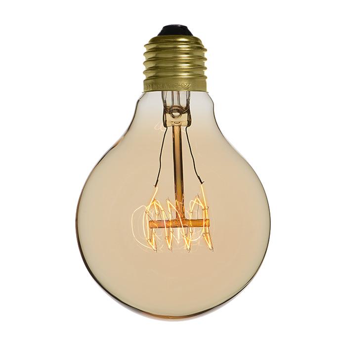 Ampoule déco vintage Memphis 80mm, 40W, E27