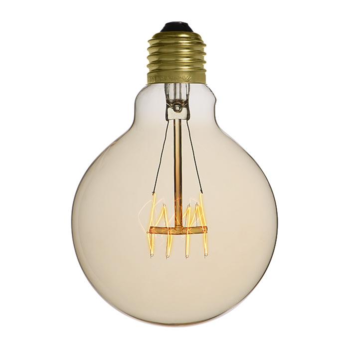 Ampoule déco vintage Memphis 95mm, 40W, E27