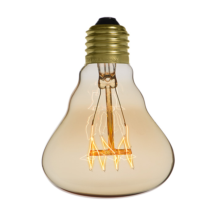 Ampoule déco vintage Dallas 80mm, 40W, E27