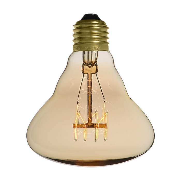 Ampoule déco vintage Dallas 95mm, 40W, E27