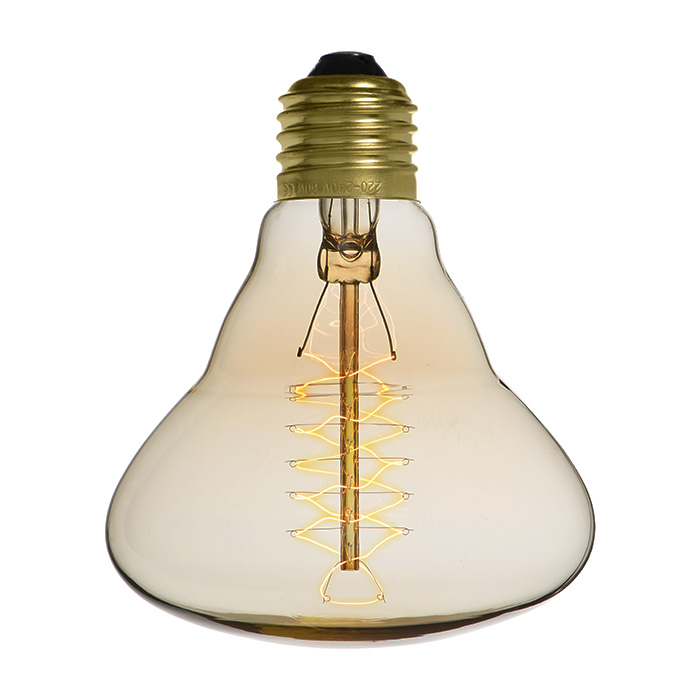 Ampoule déco vintage Houston 95mm, 40W, E27