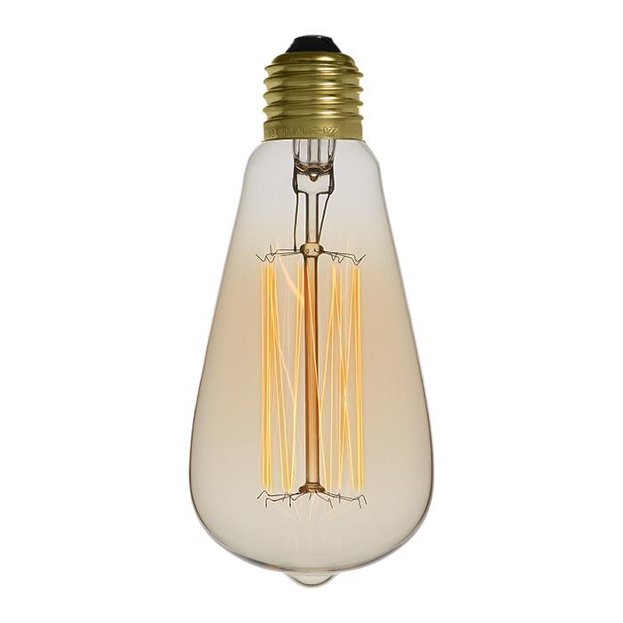 Ampoule déco vintage Springfield 64mm, 40W, E27