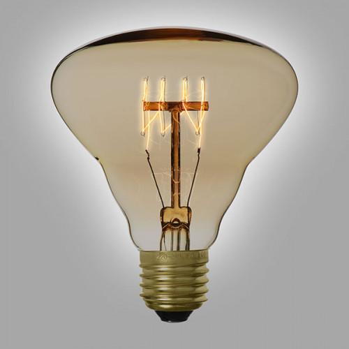Ampoule déco vintage Dallas 95mm, 40W, E27