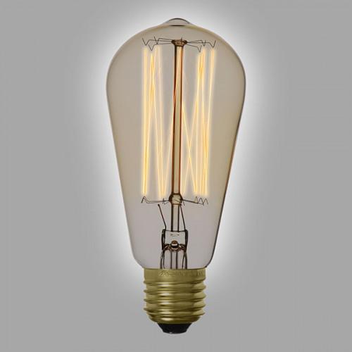 Ampoule déco vintage Springfield 58 mm, 60W, E27