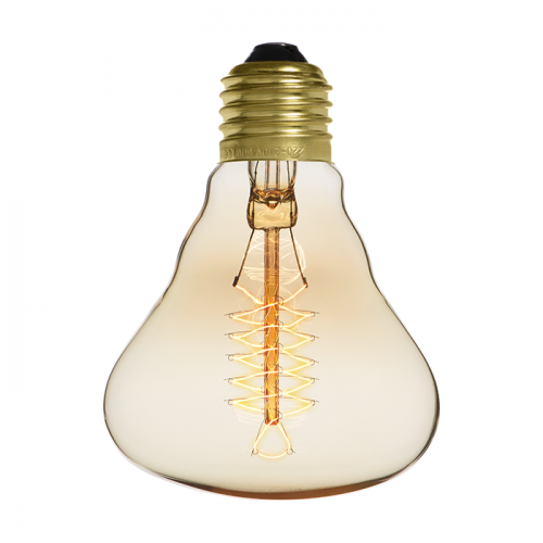 Ampoule déco vintage Houston 80mm, 60W, E27