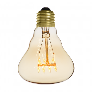 Ampoule déco vintage Dallas 80mm, 60W, E27