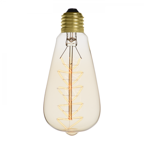 Ampoule déco vintage Lexington 64mm, 60W, E27