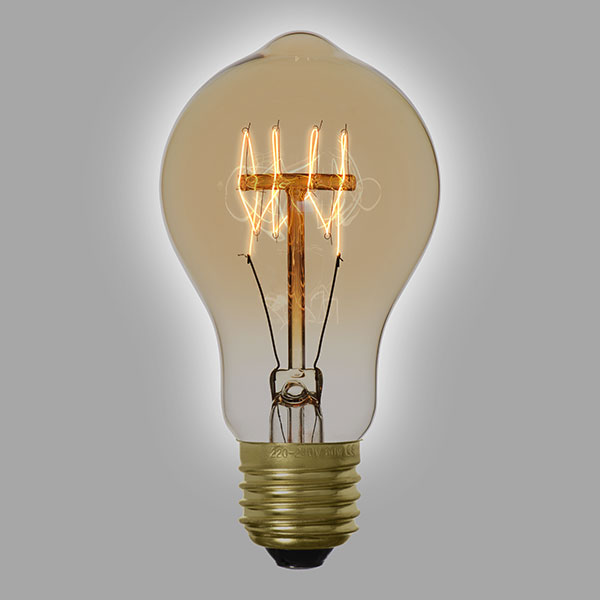 ampoule filament vintage a60c. Black Bedroom Furniture Sets. Home Design Ideas