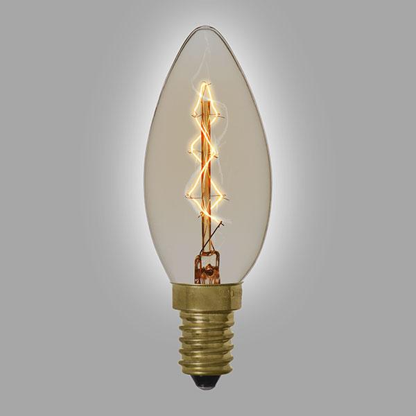 ampoule d corative vintage pour lustre 40 watts. Black Bedroom Furniture Sets. Home Design Ideas