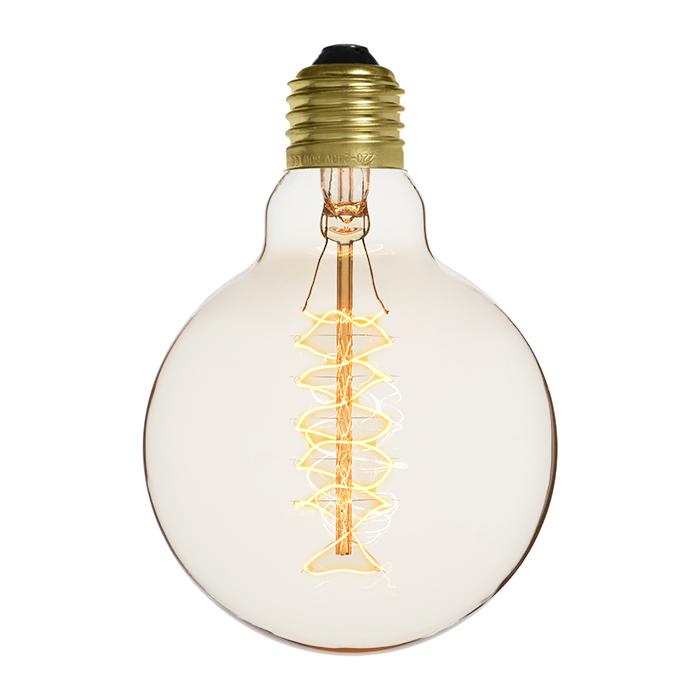 Ampoule déco vintage Atlanta blanche 95mm, 60W, E27